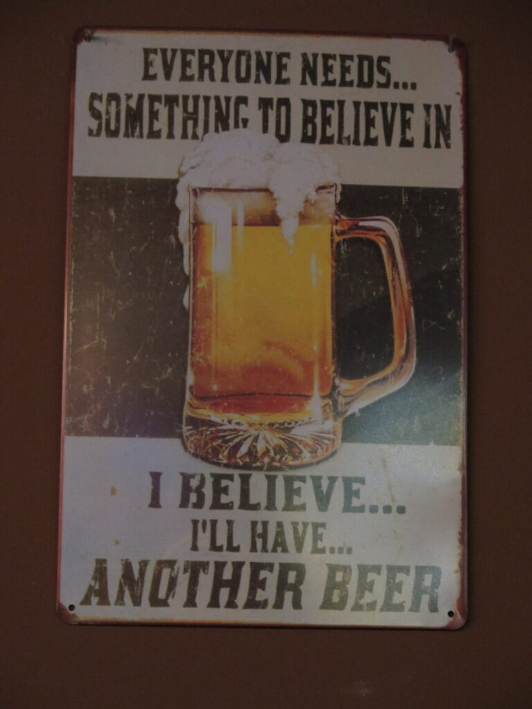 Everyone needs... something to believe in. I believe... I'll have... another beer