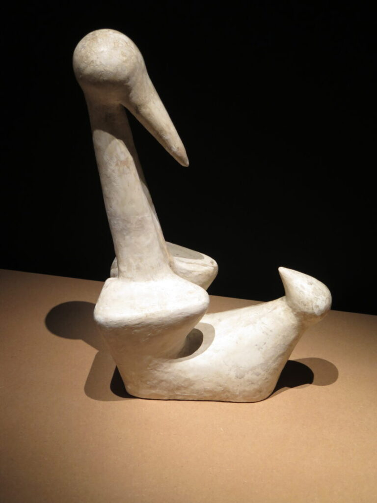 Fugl med unge 1935 - lavet i gips af Sonja Ferlov Mancoba