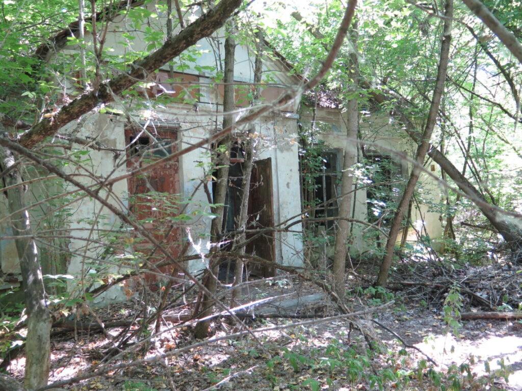 Forladt hus i Tjernobyl