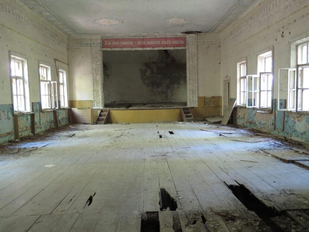 Tidligere forsamlingshus i Tjernobyl
