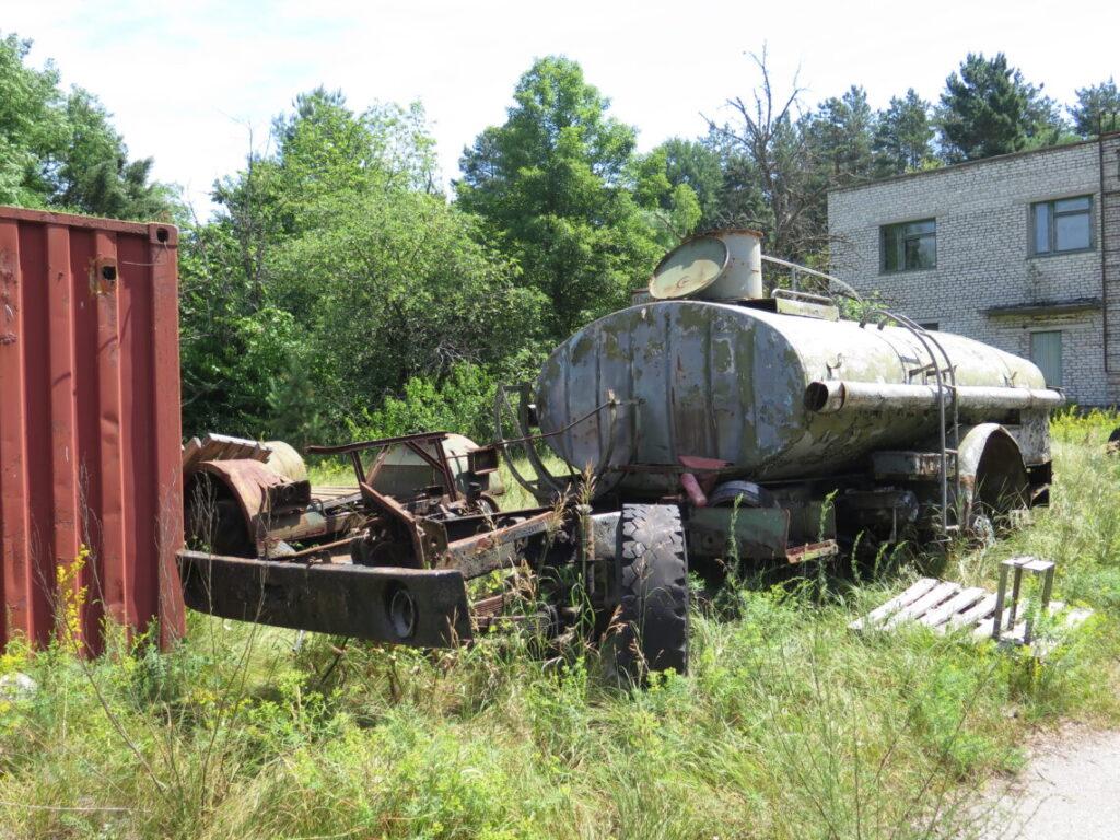 Efterladt tankbil