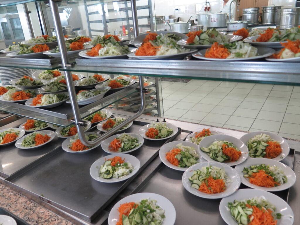 Frokost i kantinen i Tjernobyl