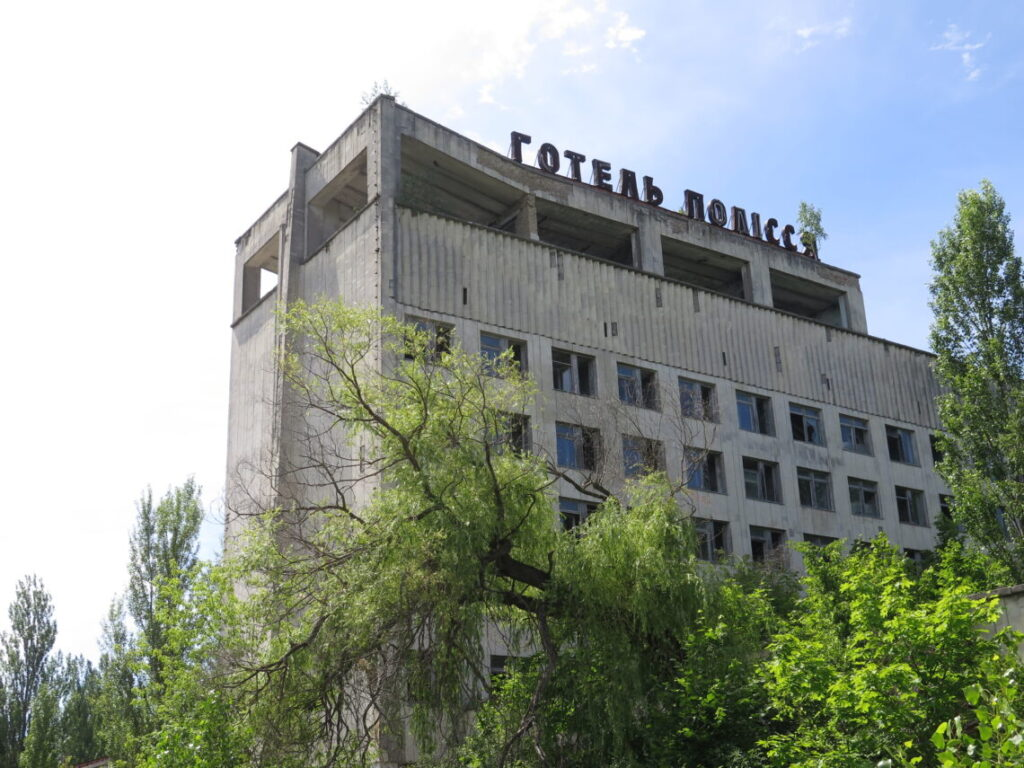 Forladt hotel i Pripyat