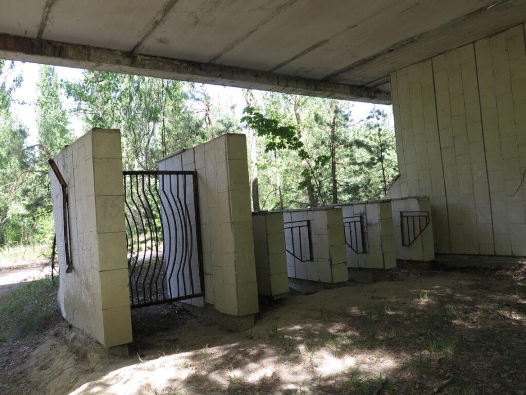 Indgang til stadion i Pripyat