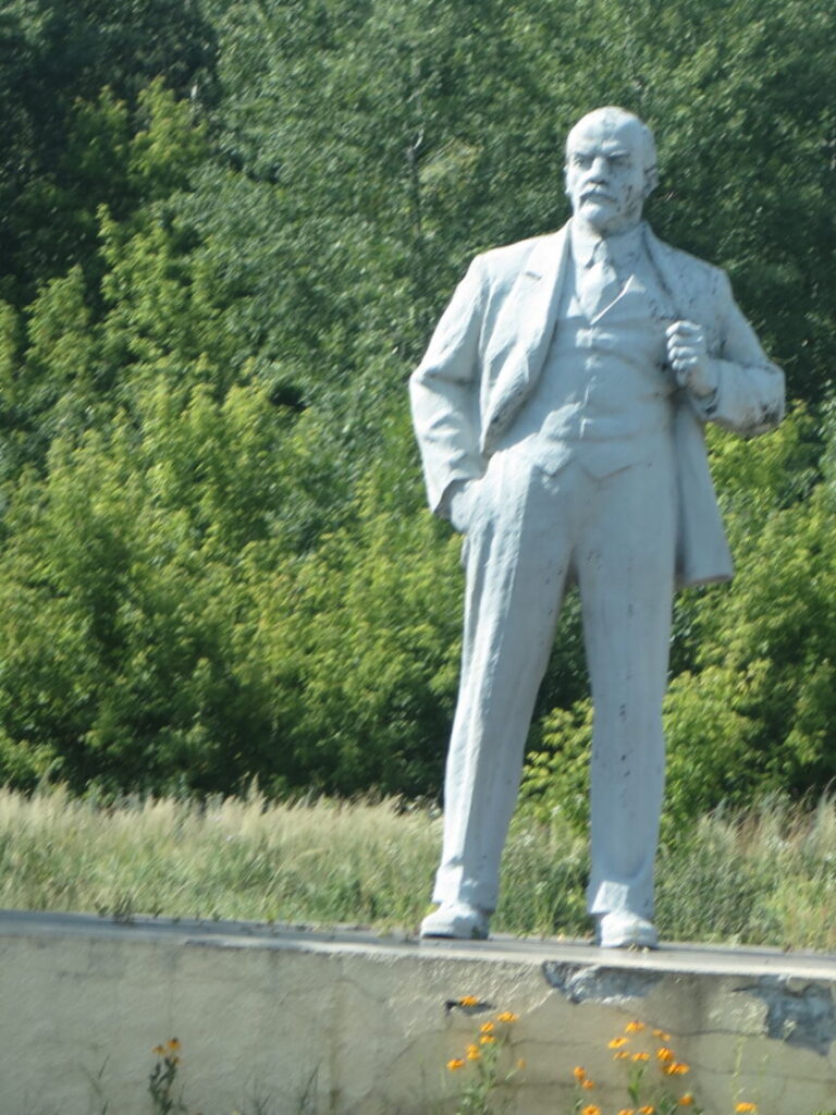 Lenin statue i Pripyat Tjernobyl