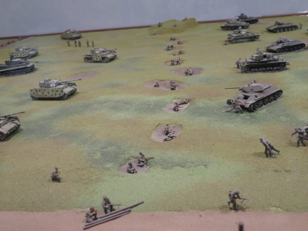 Panserslaget ved Kursk ved frontlinjen