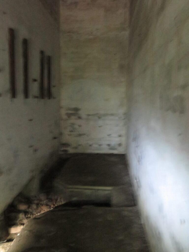 Inde i en bunker i Mauerwald