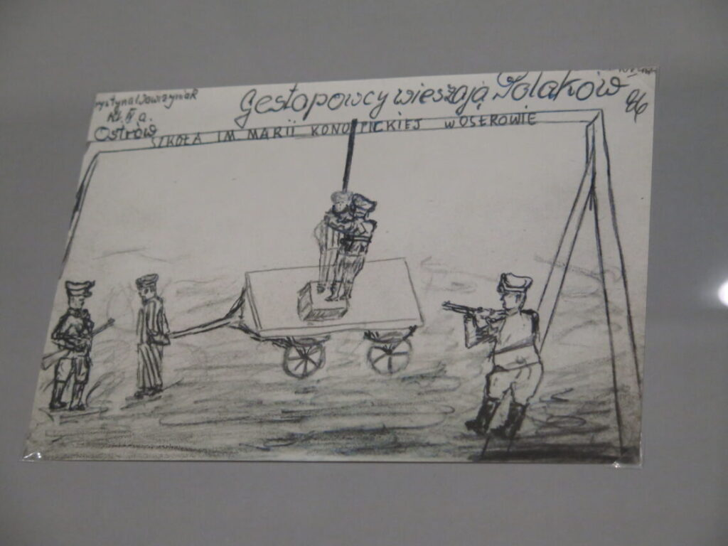 Gestapo hænger polakker. Fra Anden Verdenskrigsmuseet i Gdansk
