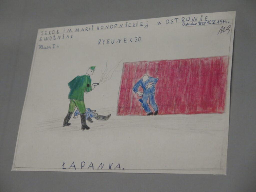 Tegning fra 1946 fra Anden Verdenskrigsmuseet i Gdansk