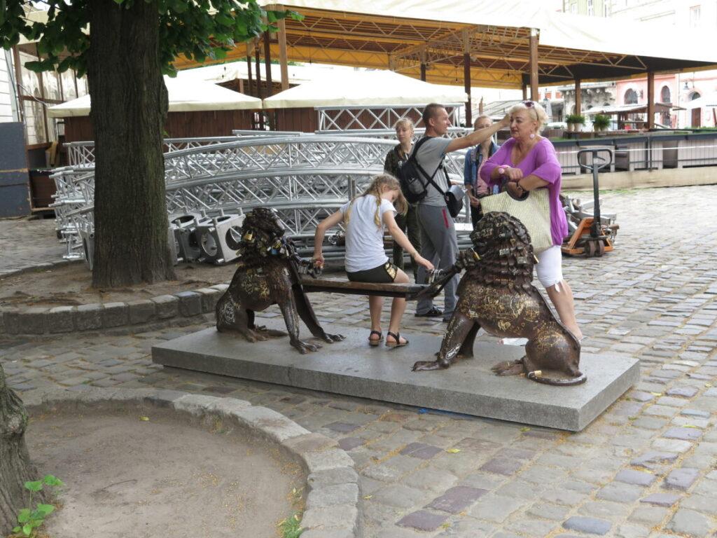 Bænk i Lviv - Løvernes by