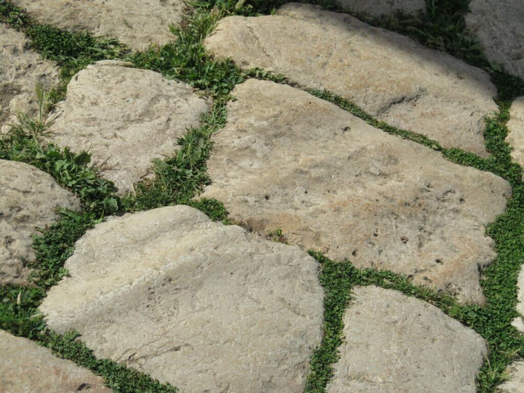 Gamle hjulspor kan ses i Cardo-gaden