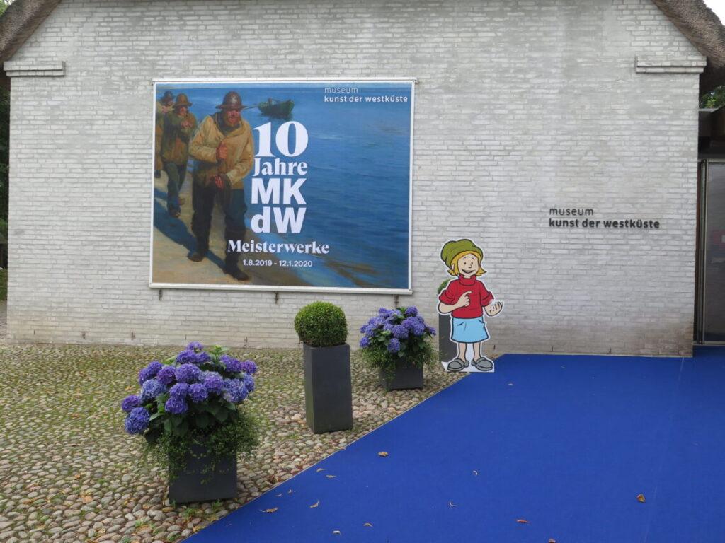 Indgangen til Museum Kunst der Westküste, som viser dansk historie på Föhr