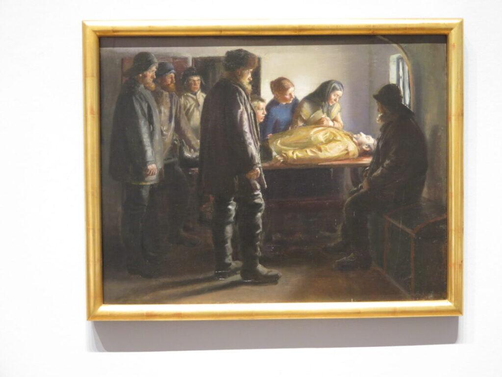 Michael Ancher: Der ertrunkene Fischer, 1895. Dansk historie på Föhr