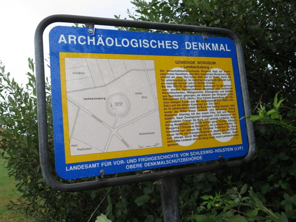Ringborgen Lembecksburg i Borgsum