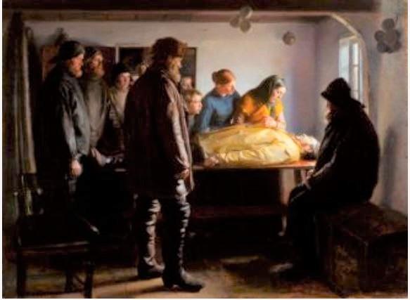 Michael Ancher, Den druknede fisker, 1896, Skagen Museum
