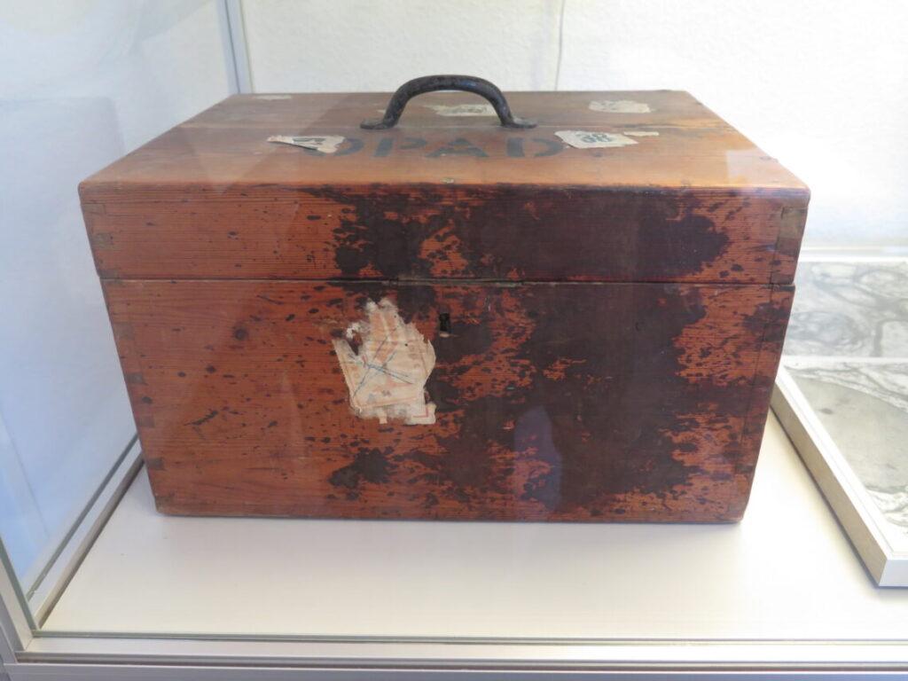 Transportkasse til patienthjerner fra Museum Ovartaci