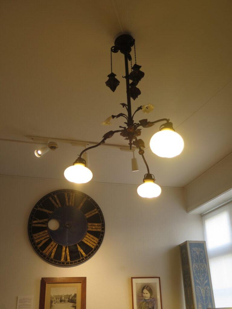 Lampe og urskive