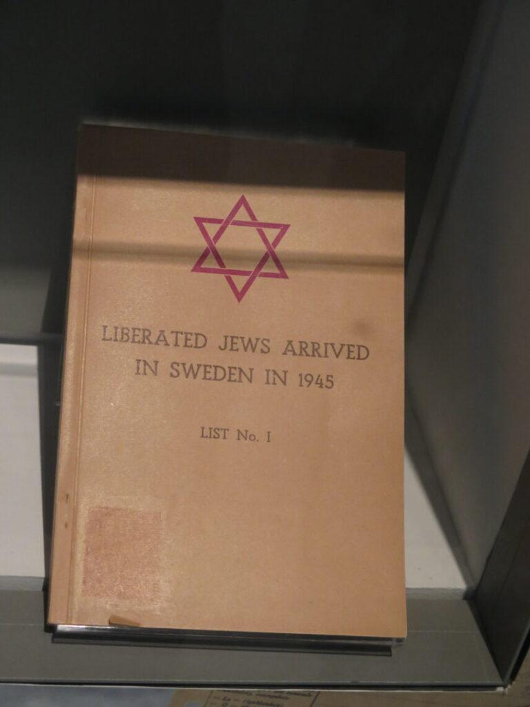 Bog over befriede jøder, som kom til Sverige i 1945