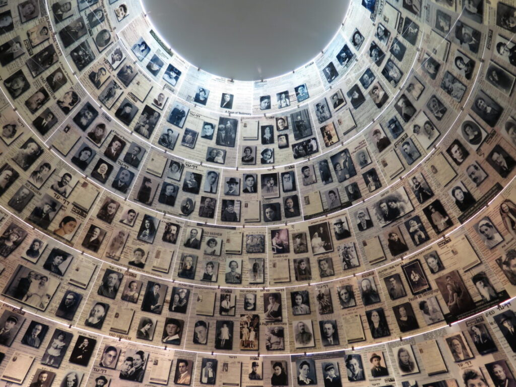 Hall of Names på Holocaustmuseet Yad Vashem i Jerusalem