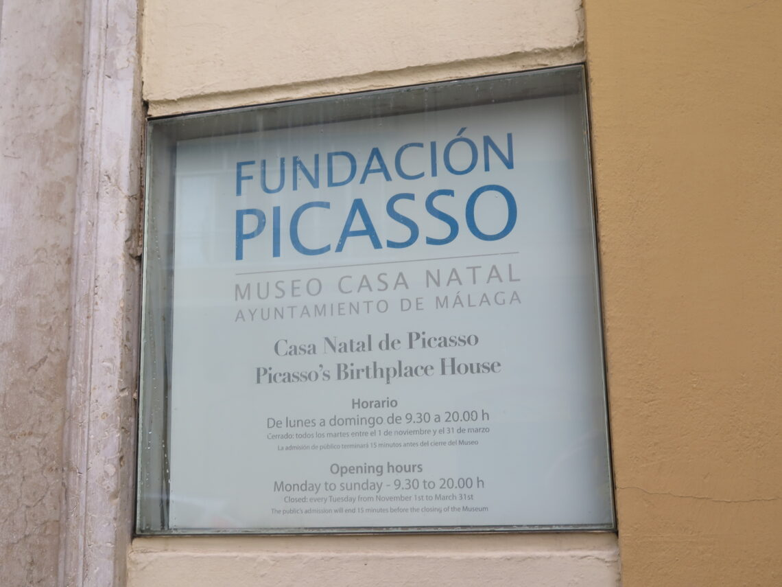 Fundación Picasso at the entrance to the Picassos Birthplace Museum