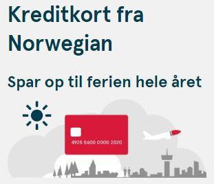 Kreditkort fra Norwegian og få råd til ferie