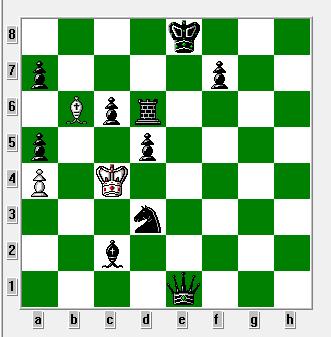 Hvid er i skak og skal flytte. 1864 og skak på 64 felter