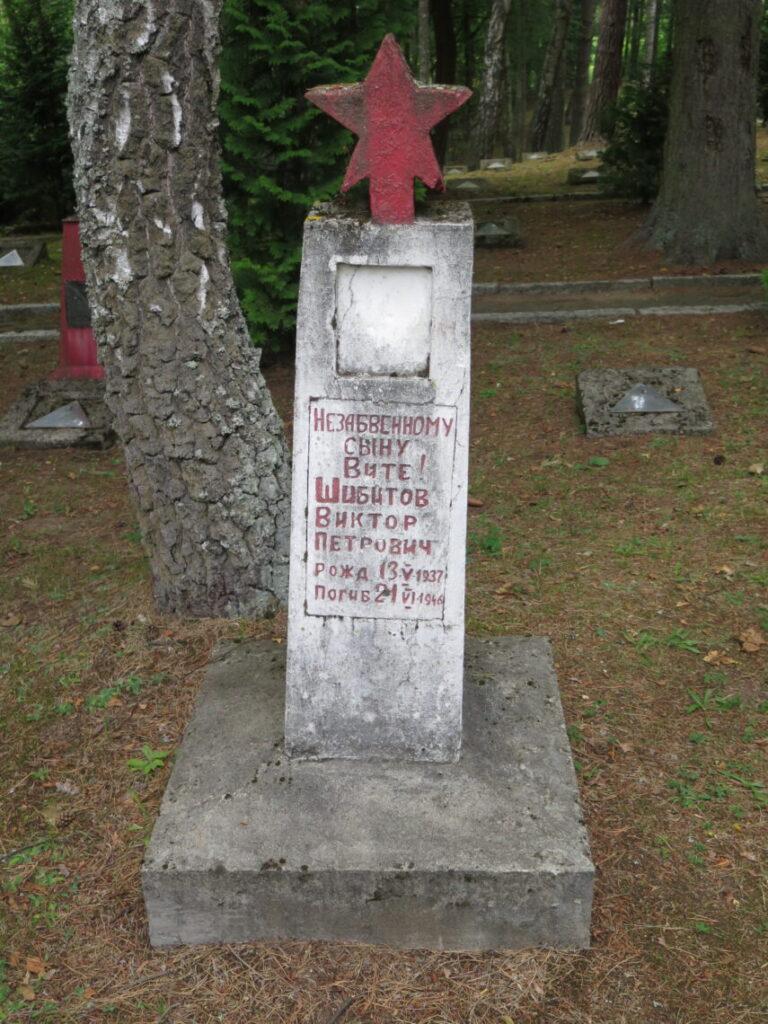 Den røde Stjerne på en anderledes sovjetisk militærkirkegård