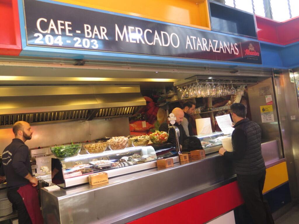 Cafe i markedshallen