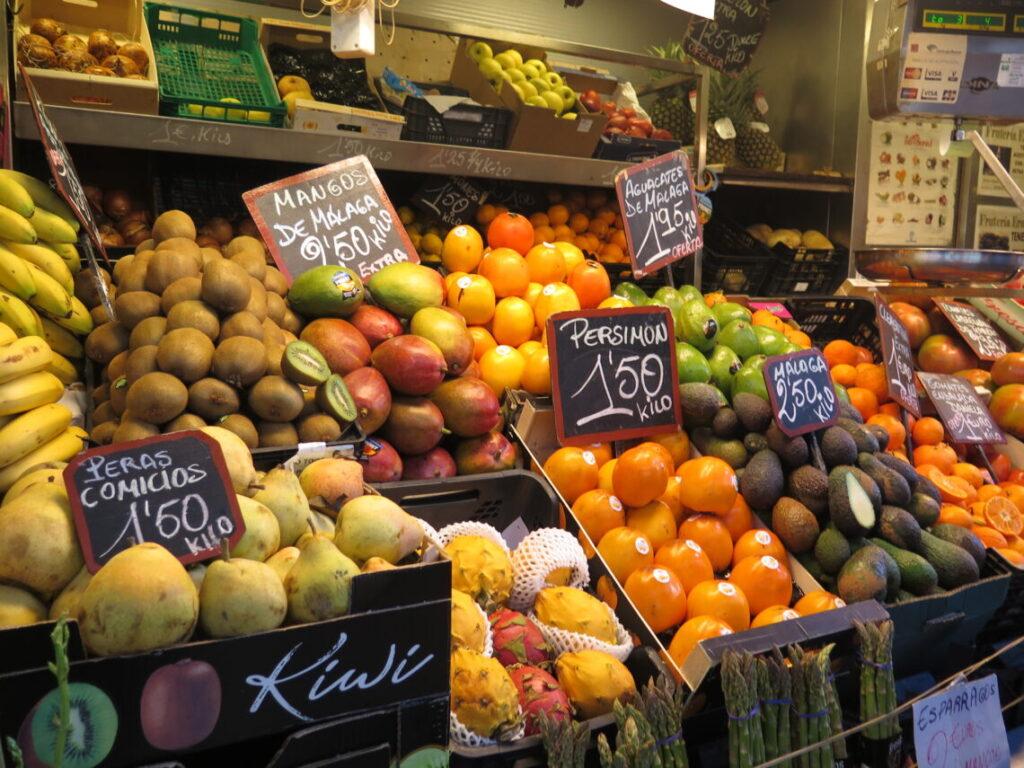 Forskellige frugter