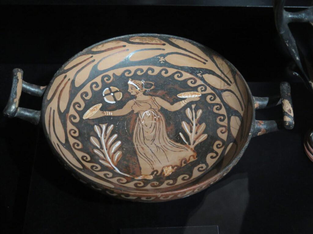 Græsk/mykensk drikkeskål til vin