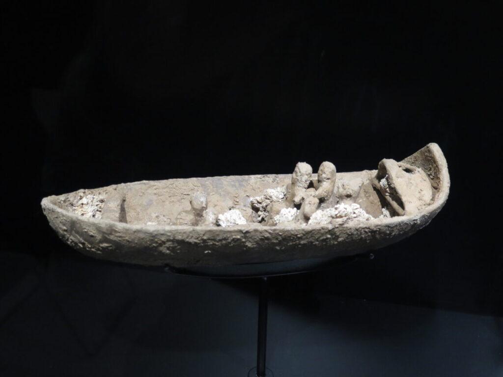 Skib lavet af ler