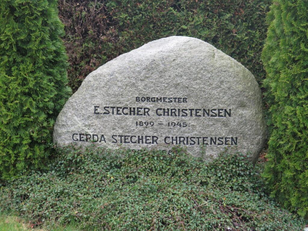 Borgmester E. Stecher Christensen. Lokalhistorie på Vestre Kirkegård
