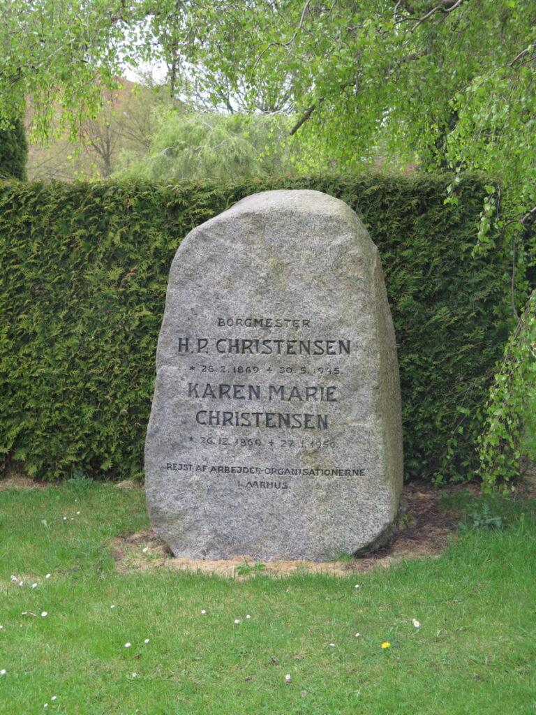 Borgmester H. P. Christensen. Også lokalhistorie på Vestre Kirkegård
