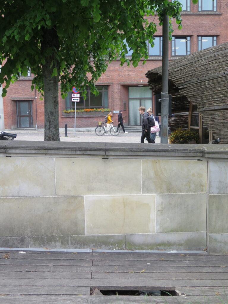 Tidligere placering for dinosauren i Aarhus