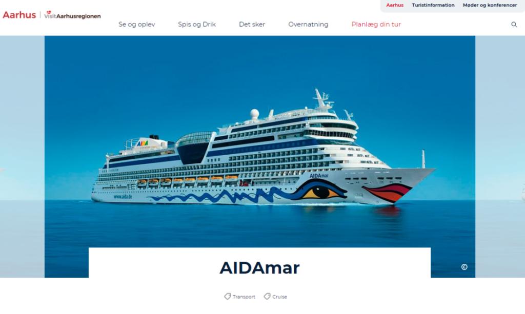 AIDAmar i Aarhus
