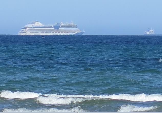 Strandet krydstogtskib under Corona