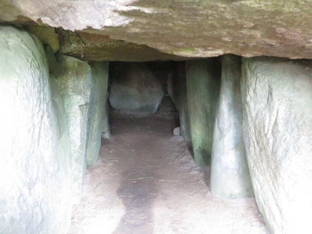 Selve kammer kan ses ved jættestuen Glentehøj